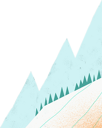 Iced mountains